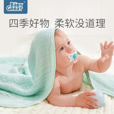 baby新生嬰兒浴巾竹棉柔軟吸水6層紗布寶寶洗澡毛巾兒童蓋毯