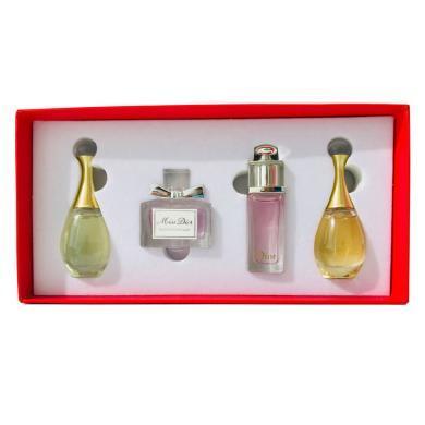 【支持购物卡】法国Dior迪奥经典香水小样4件套盒5ml*4 红盒限定款 无喷头 定?#35780;?#30418; 非原装 介意慎拍