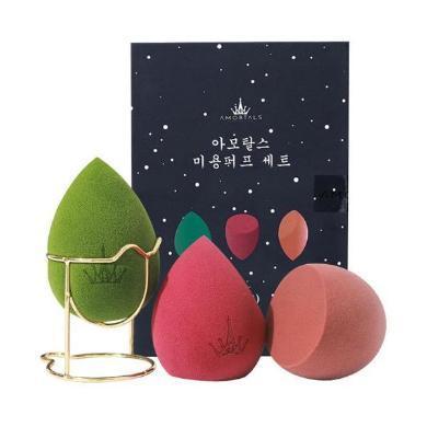 【支持購物卡】【張嘉倪同款】AMORTALS爾木萄 星空美妝蛋套盒 3只+蛋架/盒 干濕兩用海綿美妝蛋