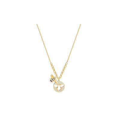【支持購物卡】Swarovski施華洛世奇 LISABEL 女士可愛蜜蜂鎖骨項鏈 36cm 金色5365641