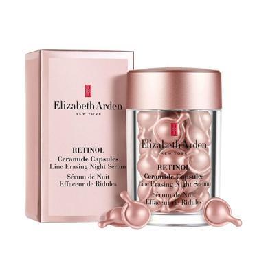 【支持購物卡】美國ElizabethArden伊麗莎白雅頓 粉膠 時空煥活夜間多效膠囊精華液約30粒 修護面部精華