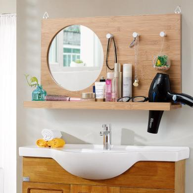 卫生间卫浴镜子洗手间浴室镜洗漱镜欧式壁挂装饰浴镜