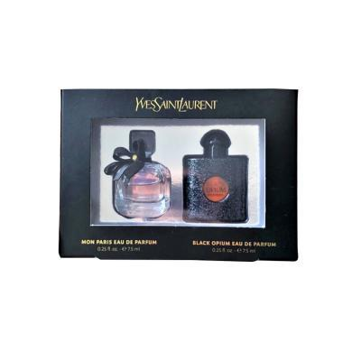【支持购物卡】法国 YSL 圣罗兰 反转巴黎女士香水+黑鸦片EDP经典香水套?#34892;?#26679; 7.5ml*2  (预售,拍下七天后发出)