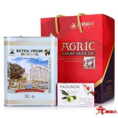 阿格利司希臘特級初級橄欖油 2L鐵桶禮盒新品上市 橄欖油禮盒 食用油