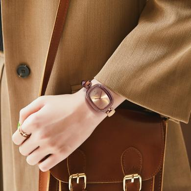 聚利時女表簡約時尚個性防水皮帶鑲鉆手表學生潮流女士手表JA-298
