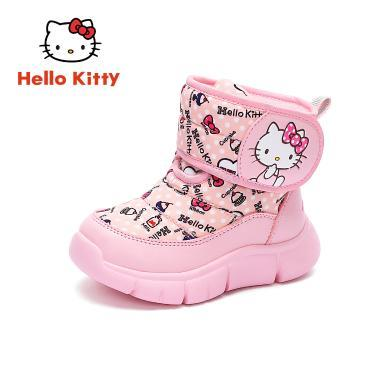 HelloKitty童鞋女童雪地靴防滑冬儿童棉鞋女孩加绒保暖公主棉靴子K9546836