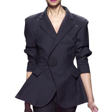 tobebery小西裝外套女韓版寬松英倫風復古2020秋季新款設計感小眾休閑上衣
