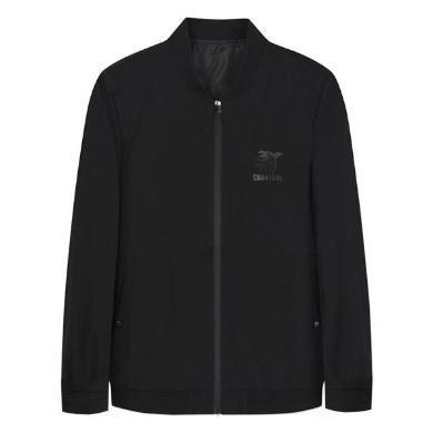迪仕尼奴男士夹克秋冬新品黑色棒球服外套商务休闲防风上衣0090