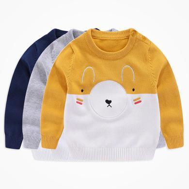 丑丑嬰幼 新款男寶寶卡通針織毛衣 男童秋冬時尚可愛毛衣 COE803D