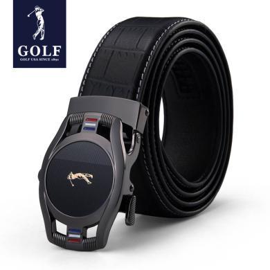 GOLF/高爾夫男士頭層牛皮商務休閑簡約自動扣皮帶腰帶男士皮帶禮盒 P834829AA