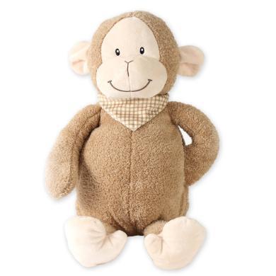 泊斯爾卡通小猴子熱水袋小號注水暖手袋雙插手卡通玩偶暖手寶可愛