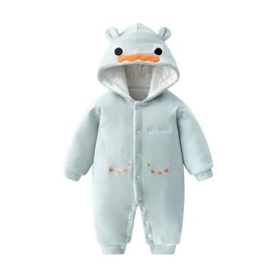 班杰威尔宝宝连体衣新生加棉保暖加厚棉衣服婴儿夹棉服秋冬季套装冬装哈衣