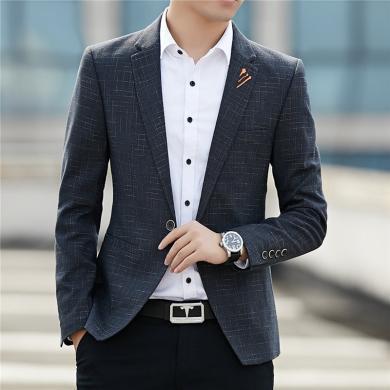 西裝西服單西西裝男士西服時尚韓版英倫風新款小西裝男潮帥氣百搭休閑上衣加絨商務外套西裝西服單西西裝CG-509