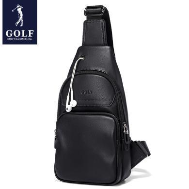 GOLF/高尔夫胸包男斜挎包休闲小包背包男士潮腰包皮包男包单肩包  D8GF51943T