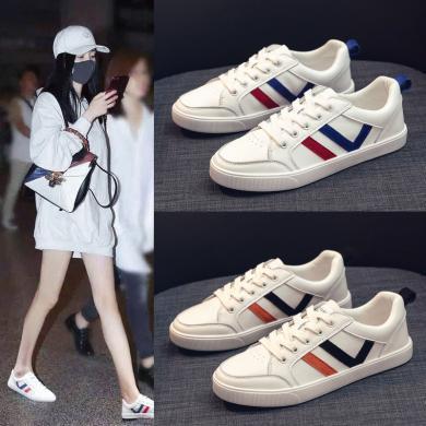 奧古獅登小白鞋女2019夏款百搭學生ins街拍潮鞋夏季透氣運動板鞋白鞋9350