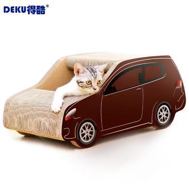 得酷猫窝SUV车形瓦楞纸猫抓板猫磨爪玩具猫咪宠物用品送猫草