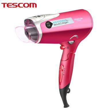 日本TESCOM美发胶原蛋白吹风机网红款水负离子家用不伤发电吹风筒TCD4000