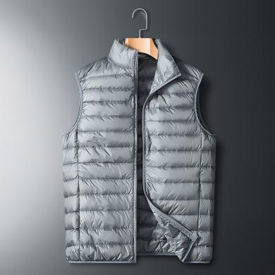 富贵鸟男装2019冬季新款多色可选保暖轻薄马甲160505
