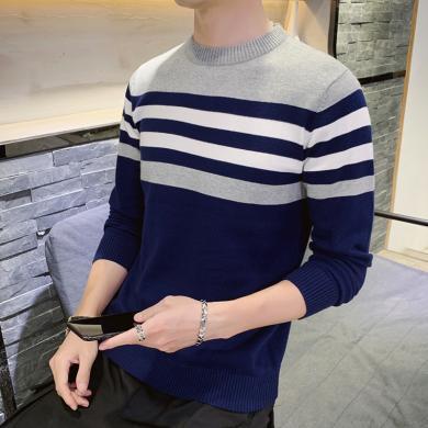富貴鳥男裝2020春季新款男士毛衣休閑長袖T恤薄款針織衫男M040