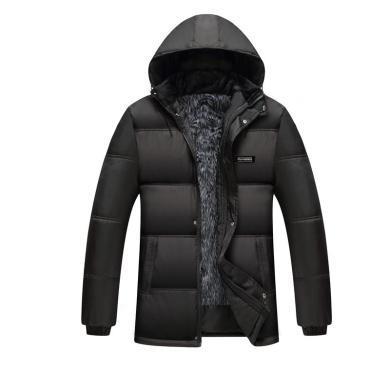 富貴鳥男裝加絨棉衣男保暖加厚冬季男士韓版修身可拆卸帽中年棉襖休閑外套MX9987
