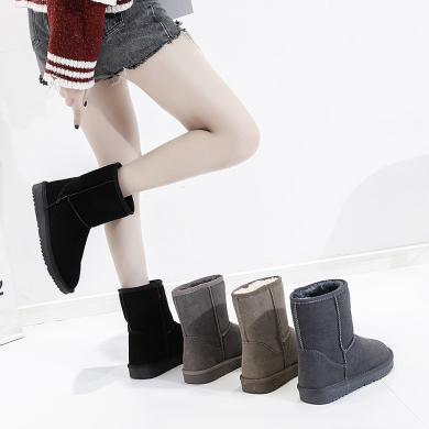 新款ins冬季中幫短靴休閑女棉鞋雪地靴女MNA9507