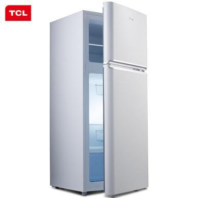 TCL 118升 小型双门电冰箱 LED照明 迷你节能 办公居家便捷之选 环保内胆 (?#29228;?#30333;)BCD-118KA9