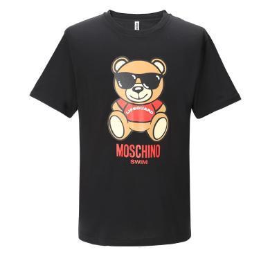 [支持購物卡]MOSCHINO/莫斯奇諾 SWIM系列墨鏡熊印花 男款T恤 1910