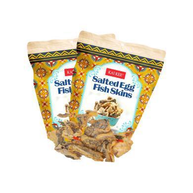 【支持購物卡】【2袋】香港佳記 KAIKEE印尼風味魚皮即食香辣咖喱味香酥脆炸魚皮網紅辦公室零食小吃100g袋