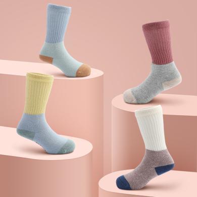 卡特兔儿童袜子春秋新生儿宝宝袜中筒透气机能袜不勒脚松口地板袜