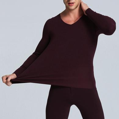 卡斯宾2019新款男士无痕37度恒温德绒纤维发热保暖内衣
