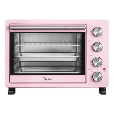美的(Midea) PT25A0 家用多功能电烤箱 机械式操控 25升 粉色