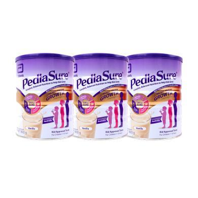 【支持购物卡】3罐*澳大利亚雅培Abbott小安素pediasure儿童奶粉850g*3罐(香草味)澳洲直邮