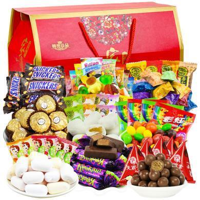 進口巧克力零食年貨大禮包糖果組合喜糖禮盒裝生日禮物團購送禮品