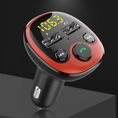 车载蓝牙MP3播放器 音乐车充 4.2蓝牙免提 语音导航 电压检测 双USB 3.1A快速充电