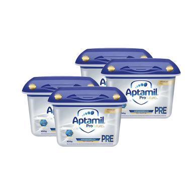 【支持购物卡】4罐*德国Aptamil婴幼儿奶粉 白金版PRE段 0-6个月800g*4罐   荷兰直邮