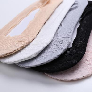 卡斯宾(5双装)女船袜春夏季超薄款浅口隐形蕾丝硅胶防滑短丝袜女士短袜