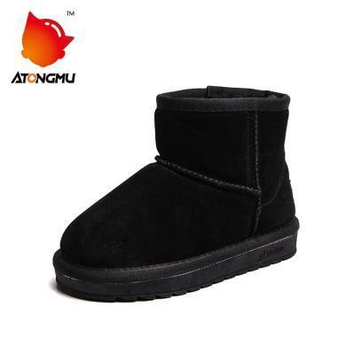 阿童木儿童雪地短靴男童女童鞋子新款冬季防滑加厚加绒棉鞋冬鞋子