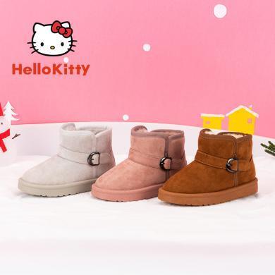 HelloKitty童鞋女童雪地靴防滑冬季兒童棉鞋女孩加絨保暖公主棉靴子K9546820