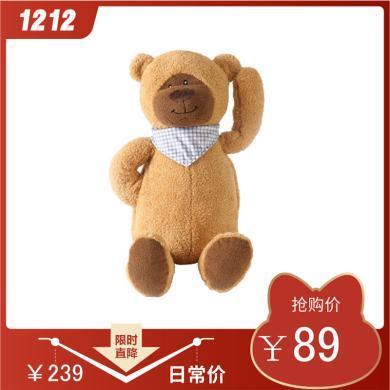 泊斯尔小号呆呆熊注水热水袋双插手暖水袋小熊玩偶