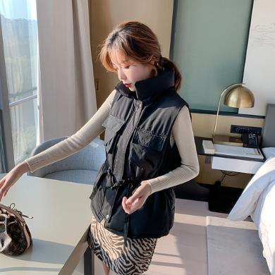 DOWISI馬甲棉服2019秋冬新款時尚百搭馬夾外套女F3086
