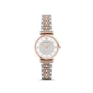 【支持購物卡】意大利阿瑪尼EmporioArmani)滿天星鑲鉆手表鋼制表帶AR1926香港直郵