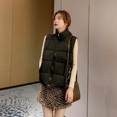 DOWISI實拍 馬甲女2019秋冬新款寬松顯瘦韓版坎肩保暖無袖棉外套女F3085