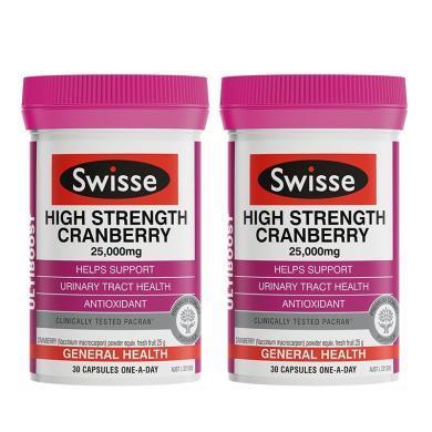 【支持購物卡】【2瓶】澳洲Swisse蔓越莓30粒 呵護女性