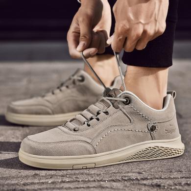 卡帝乐鳄鱼男鞋新款运动鞋时尚潮鞋板鞋男士真皮休闲旅游鞋QH2011