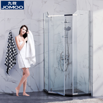 JOMOO九牧整體鋼化玻璃弧形淋浴房M784系列-(包安裝)