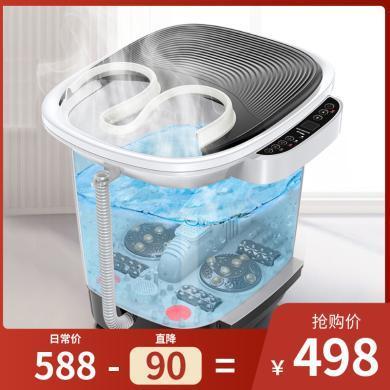 2019新款家用足浴盆器洗腳盆電動按摩泡腳桶加熱恒溫高深桶全自動老人養生