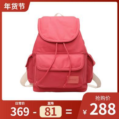 Crocs2019清新尼龍書包迷你旅行背包女休閑簡約雙肩包開學季