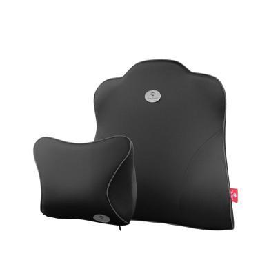 米彤 汽車頭枕護頸枕記憶棉座椅靠枕頭汽車頭枕腰靠套裝車載枕頭靠頸枕
