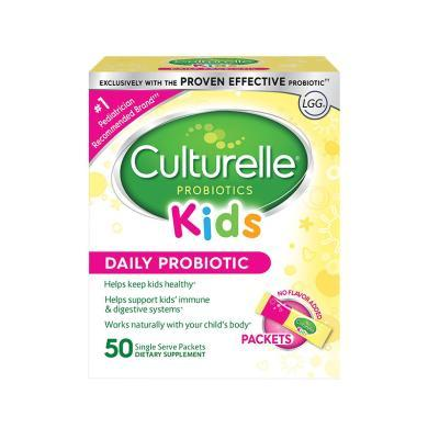【支持購物卡】美國Culturelle for kids康萃樂 嬰幼兒童LGG益生菌粉50袋/盒
