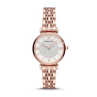 【支持購物卡】Armani阿瑪尼手表女新款滿天星鋼帶石英女腕表佟麗婭同款 AR11244
